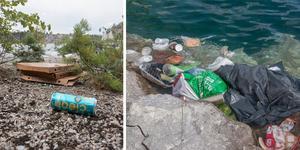 Då kalkbrottet i Stora vika har blivit en populär badplats påverkar det även miljön. Grannarna runt om vill att folk ska plocka upp skräpet efter sig.