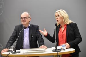 Slutbetänkandet för mer jämlik vård överlämnades till socialminister Lena Hallengren (S) av den särskilde utredaren Göran Stiernstedt i oktober 2019. Foto: Henrik Montgomery / TT