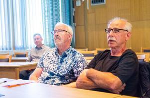 Mats Ökvist och Kjell Malmström hade många åsikter om detaljplanen.