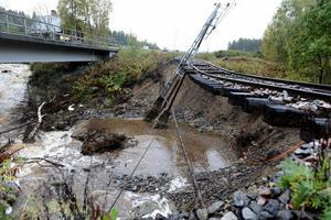 För fem år sedan rasade både järnväg och Riks 90 mellan Kramfors och Sollefteå. Bild: Pontus Lundahl