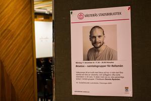 I hörsalen på Västerås stadsbibliotek samlades fjorton män för att samtal kring maskulinitet, känslor och samtycke.
