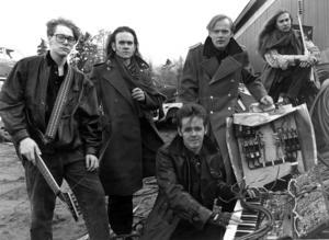Abnormalized 1991. intervjuades. Från vänster: Fredrik Karlsson, Johan Lehner, Lars Westerlund, Mats Granehag Engström och vid klaviaturen Patrik Paulov. Foto: ÖP:s arkiv