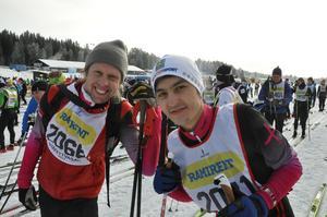 Adam Alexander Johansson och Mortesa Amini i starten.