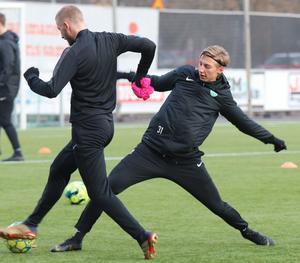 Unge Albin Sporrong tar för sig på VSK:s träningar.