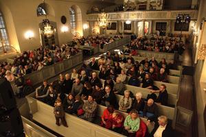 Så här många kom för att lyssna på de jämtländska musikerna.