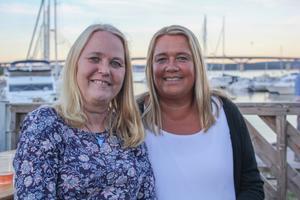 Mari Åslin och Gunilla Tedenborg var på Sundsvall Pride under torsdagskvällen.