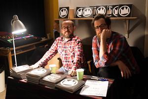 Författarna Stefan Petrini och Björn Wallsten. Bild: Luka Kjerrman