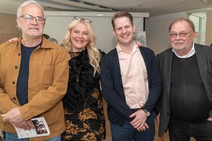 Konstrundans arrangörer . Björn-Owe Andersson, Maria Fors, Erik Jersenius och Johnny Molton. Foto: Jakob Svärd