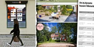 Det dyraste huset i Västerås såldes tidigare av Bukowskis Real Estates. Huset ligger fortfarande kvar på på Bukowskis hemsida, där bilden i mitten är tagen ifrån.