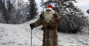 Jultomten besökte julmarknaden.
