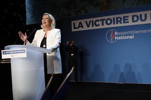 Marine Le Pens parti är fortsatt störst i Frankrike, men backade jämfört med förra valet