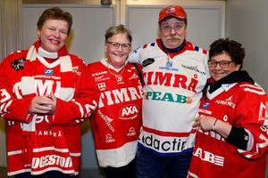 Carina Nyberg, Eva och Kenneth Burman och Eva Svensson var laddade innan matchstart.