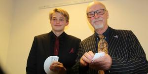Olle Nilsson och Erik Luttropp tävlade för Västerås. De tränar på kort-trick mest varje dag. Bild: Britt-Louise Bergström