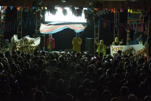 Pussy Riot på scen i Idaho den 25 mars. Bild: AP Photo/Otto Kitsinger