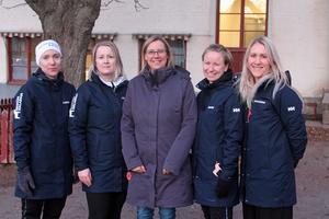 Camilla Karlsson, Cecilia Holm,  rektor Anna Gummesson, Jennie Gustafsson och Johanna Bergeå.