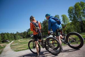Ungefär hälften av cyklisterna i Rättviksjakten kommer från Rättvik.Foto: Slava Druk/Leksands Foto.