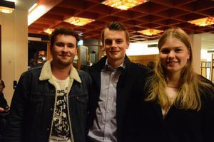 Gänget bestående av André Edström, Andreas Thörngren och Nikita Trupp var imponerade.
