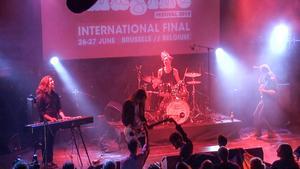 """Östersundsgruppen In Circles vann 2015 hela Europafinalen av Imagine som då fortfarande i Sverige hette """"Musik Direkt""""."""
