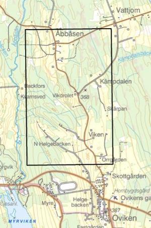 Inmutningen Viken ligger mellan Åbbåsen och travbanan öster om 321:an.