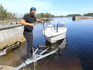 Igor Durakovic lyckades baxa sin båt