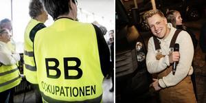 Gottfrid Krantz kommer inte till BB-ockupanterna i Sollefteå på torsdag kväll.