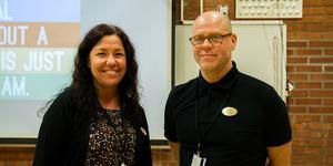 Malin Blackmore och Tomas Pettersson, förstelärare.