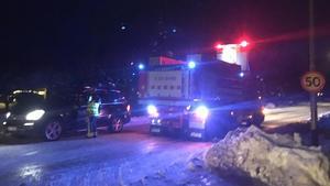 Åtta fordon var inblandade i krocken i höjd med Övertänger på riksväg 50.