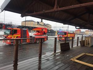 Räddningstjänsten ryckte ut till Magasinet i Falun under onsdagseftermiddagen med anledning av larm om brand där.Foto: Magdalena Nord Omne/Privat