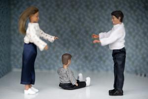 För barn är det hemskt nä föräldrarna skiljer sig. Men Pavlo blir tröstad av att han inte är ensam. Bild: Jessica Gow