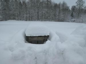 Fredriksberg fick mest snö i hela landet under tisdagen. Foto: Paula Merio