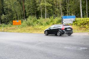 Hastigheten föreslås sänkas från 100 till 70 kilometer i anslutning till avfarten mot Söderbärke.