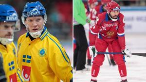 Daniel Berlin och Alan Dzhusoev. Foto: Rikard Bäckman / Bandypuls.se / TT