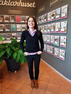 Foto: Privat.Anna Jonsson på Mäklarhuset i Borlänge, tycker att det är lättare att matcha säljare och köpare nu.