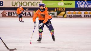 Samuli Helavuori gjorde två mål för Bollnäs i lördagens möte med VSK.