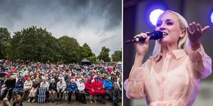 Tusentals tappra besökare trotsade det opålitliga vädret och dök upp med campingstolar och paraplyer för att uppleva Önskekonserten.