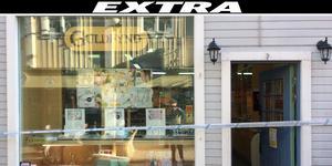 Den rånade guldbutiken på Tullportsgatan i Norrtälje.