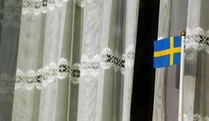 17,6 procent av Sveriges befolkning tycker att svenska flaggan är den hetaste inredningsdetaljer 2019. Foto: Hasse Holmberg/TT
