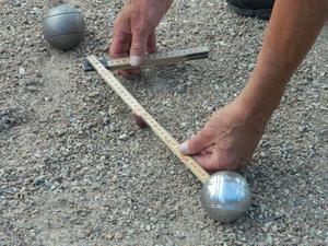 Boule är en millimetersport. Foto: Lennart Svensson.