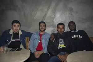 Marcus Nilsson, Ibrahim Nazar, Eric Rosca och Sayad Wafi.
