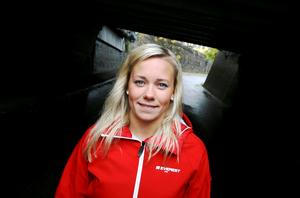 Frida hemma i Norberg inför säsongen 2007/2008. Foto: FP/arkiv
