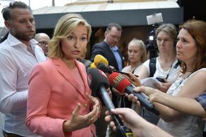 Ebba Busch Thor (KD) får ofta förklara och försvara kontroversiella uttalanden. Foto: Anders Wiklund / TT