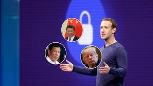 Mark Zuckerberg har fått jonglera med många bollar efter kritik angående hur Facebook använts i händerna på auktoritära ledare, som Filippinerna Duterte och USA:S Trump. Flirtarna med Kinas ledare Jinping för att öppna upp marknaden där pågår ständigt – idag är den hårt kontrollerade Wechat den dominerande plattformen för sociala medier i Kina. Foto: TT