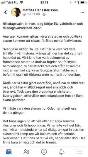 Mattias Karlsson begår Hollywoodfilm.