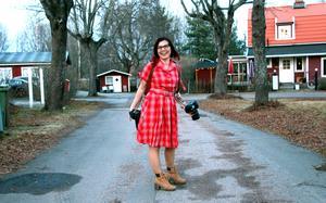 """Carolin har alltid gillat vintage och i vår planerar hon att göra ett """"styled shoot"""", ett reklam- och modefoto i rockabilly-stil."""