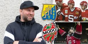Robert Döme spelade för SSK och Modo – och gjorde succé i båda klubbarna, från hattrick i debuten i Södertälje, och senare SM-semifinal – till SM-guldet med Modo 2007. Foto: Mittmedia och TT