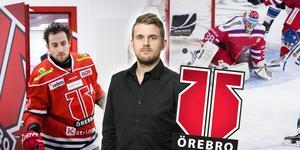 Aaron Palushaj gav det besked Örebrofansen fasat över – men de fick i alla fall se en ny målvakt blir klar för laget i Dominik Furch. Foto: Bildbyrån
