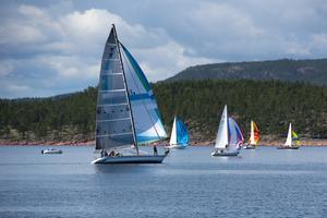 95 båtar deltog i Pelle Melinders minnessegling under lördagen.