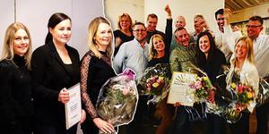 Permia Inredningar i Alfta fick ta emot utmärkelsen för årets företag i Woxnadalen som ett kvitto på hårt arbete.