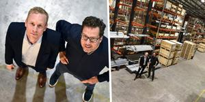 Mats Thörnqvist bredvid marknadschefen Johan Sahlander inne i företagets inre domäner.