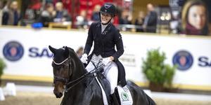 Vilken debut av Sandra Dahlin från Sala och hästen Ichi på den internationella nivån i Grand Prix Special. Foto: privat